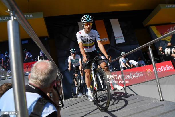 Start / Podium / Sergio Luis Henao Montoya of Colombia and Team Sky / during the 82nd La Fleche Wallonne 2018 a 1985km race from Seraing to Mur De...