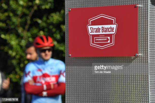 Start / Podium / Team Katusha - Alpecin / Logo / Detail view / during the Eroica - 13th Strade Bianche 2019 a 184km race from Siena to Siena-Piazza...