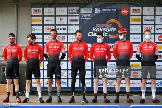 Start / Podium / Thomas Boudat of France, Benjamin Declercq of Belgium, Donovan Grondin of France, Christophe Noppe of Belgium, Markus Pajur of...