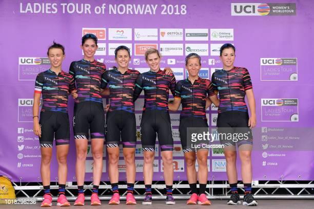 Start / Podium / Tiffany Cromwell of Australia / Katarzyna Niewiadoma of Poland / Lisa Klein of Germany / Christa Riffel of Germany / Alexis Ryan of...