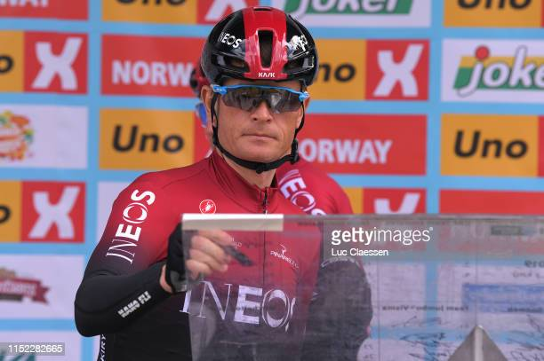 Start / Podium / Vasil Kiryienka of Belarus and Team INEOS / Signature / during the 9th Tour of Norway 2019, Stage 1 a 168,2km stage from Stavanger...