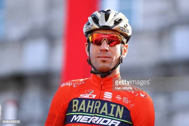 Start / Podium / Vincenzo Nibali of Italy and Team BahrainMerida / during the 53rd Amstel Gold Race 2018 a 263km race from Maastricht to Berg en...