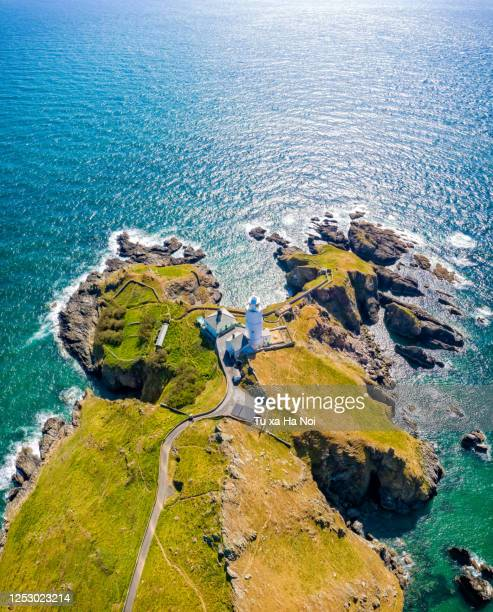 start point light house in brixham, devon - river stock pictures, royalty-free photos & images