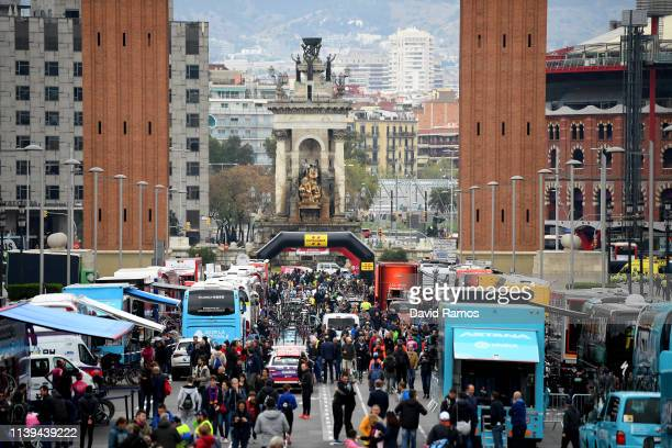 Start / Public / Fans / Caravane / Spain Square / Landscape / during the 99th Volta Ciclista a Catalunya 2019, Stage 7 a 143,1km stage from Barcelona...