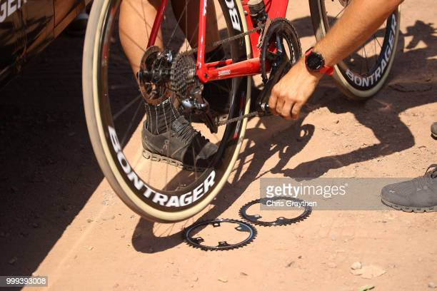 Start / Rear derailleur / Detail view / Mechanic / during the 105th Tour de France 2018, Stage 9 a 156,5 stage from Arras Citadelle to Roubaix on...