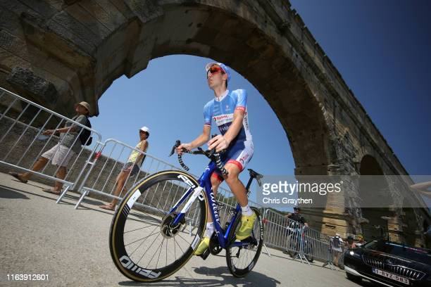 Start / Rein Taaramäe of Estonia and Team Total Direct Energie / Pont du Gard Bridge / during the 106th Tour de France 2019, Stage 17 a 200km stage...