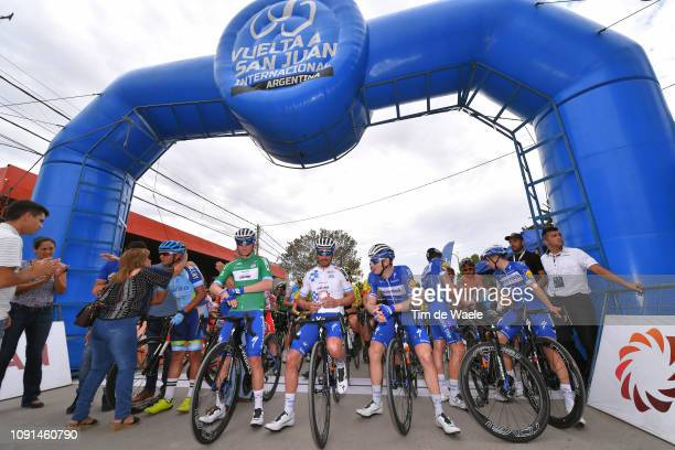 Start / Remco Evenepoel of Belgium and Deceuninck QuickStep Team Green Best Young Rider Jersey /Julian Alaphilippe of France and Deceuninck QuickStep...