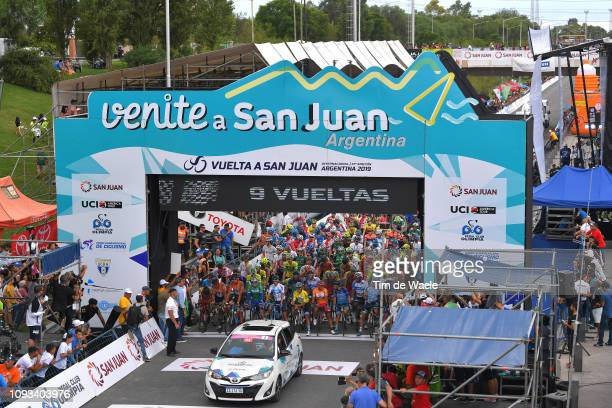 Start / Remco Evenepoel of Belgium and Deceuninck - Quick-Step Team Green Best Young Rider Jersey / Winner Anacona of Colombia and Movistar Team...
