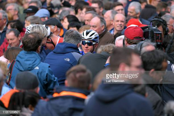 Start / Remco Evenepoel of Belgium and Team Deceuninck QuickStep / Public / Fans / during the 74th Nokere Koerse Danilith Classic 2019 a 1956km race...