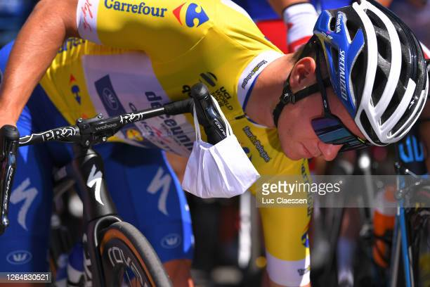 Start / Remco Evenepoel of Belgium and Team Deceuninck - Quick-Step Yellow Leader Jersey / Zakopane City / during the 77th Tour of Poland 2020, Stage...