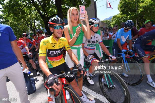 Start / Richie Porte of Australia and BMC Racing Team Yellow Leader Jersey / Juraj Sagan of Slovakia and Team Bora - Hansgrohe / Nairo Quintana of...