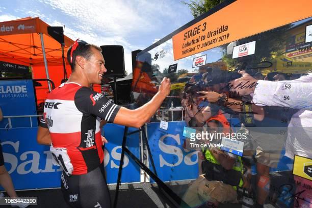 Start / Richie Porte of Australia and Team TrekSegafredo / Signing / Media / Press / during the 21st Santos Tour Down Under 2019 Stage 3 a 1462km...