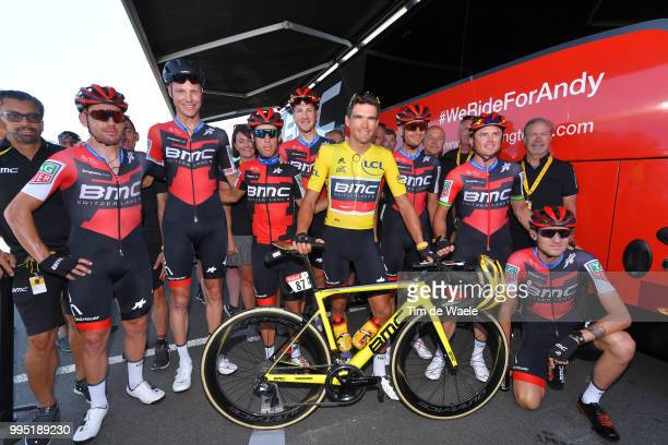 Start / Richie Porte of Australia / Patrick Bevin of New Zealand / Damiano Caruso of Italy / Simon Gerrans of Australia / Stefan Kung of Switzerland...