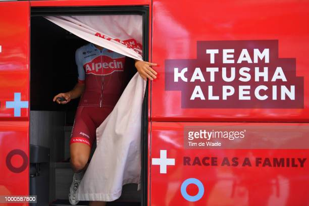 Start / Rick Zabel of Germany and Team Katusha / during the 105th Tour de France 2018 / Stage 10 a 158,5km stage from Annecy to Le Grand-Bornand 943m...