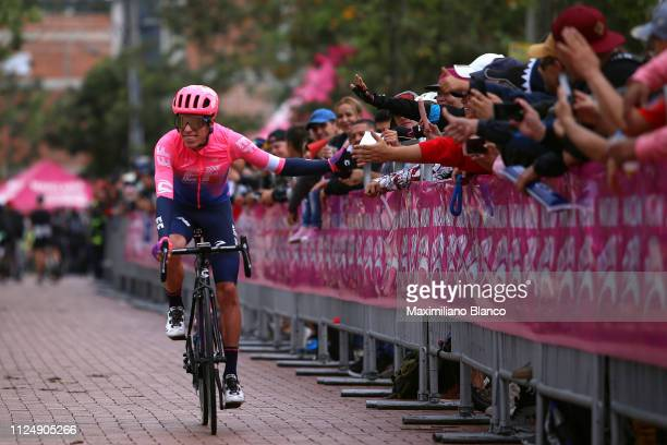 Start / Rigoberto Urán of Colombia and EF Education First Pro Cycling Team / Fans / Public / during the 2nd Tour of Colombia 2019 Stage 3 a 1677km...