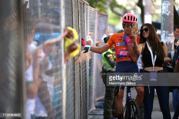 Start / Rigoberto Urán of Colombia and EF Education First Pro Cycling Team / Orange Leader Jersey / Fans / during the 2nd Tour of Colombia 2019 Stage...