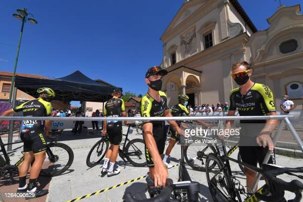Start / Robert Stannard of Australia and Team Mitchelton - Scott / Dion Smith of New Zealand and Team Mitchelton - Scott / Mesero Village / during...