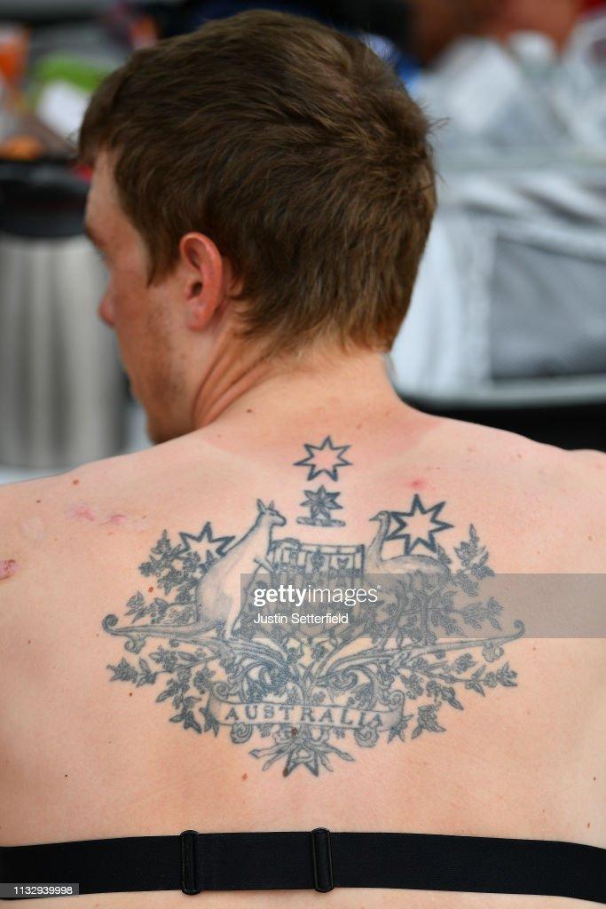 Start Rohan Dennis Of Australia And Team Bahrain Merida