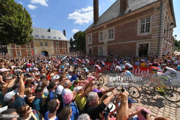 Start / Romain Bardet of France and Team AG2R La Mondiale / Arras Citadelle City / Landscape / Peloton / Fans / Public / during the 105th Tour de...