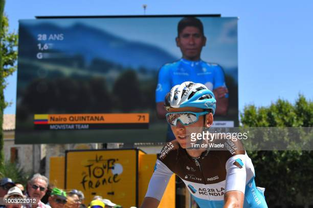 Start / Romain Bardet of France and Team AG2R La Mondiale / Nairo Quintana of Colombia and Movistar Team / during the 105th Tour de France 2018 Stage...