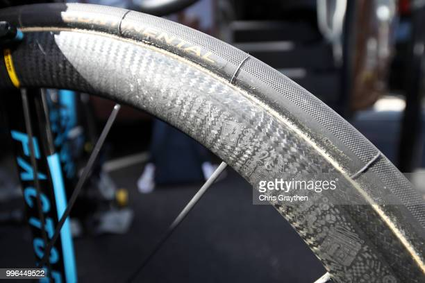 Start / Romain Bardet of France and Team AG2R La Mondiale / Rim / Tire / Wheel /Factor Bike / Detail View / during stage five of the 105th Tour de...
