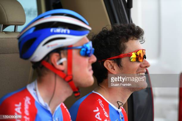 Start / Romain Sicard of France and Team Total Direct Energie / King Saud University / during the 1st Saudi Tour 2020, Stage 3 a 119km stage from...