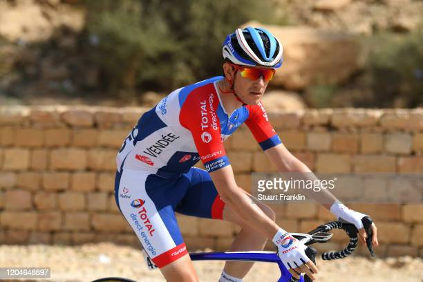 Start / Romain Sicard of France and Team Total Direct Energie / Wadi Namar Park / during the 1st Saudi Tour 2020, Stage 4 a 137km stage from Wadi...