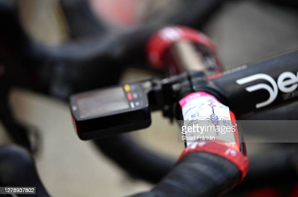 Start / Route Profile / Handlebars / Bike / Team Lotto Soudal / Detail view / during the 103rd Giro d'Italia 2020, Stage 5 a 225km stage from Mileto...