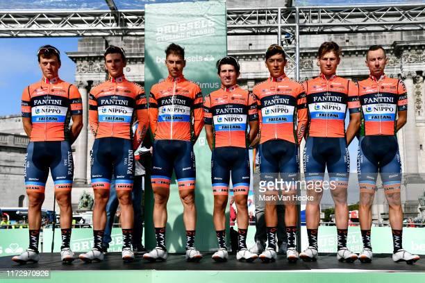 Start / Ruben Dario Acosta of Colombia and Team Nippo Vini Fantini - Faizane / Damiano Cima of Italy and Team Nippo Vini Fantini - Faizane / Imerio...