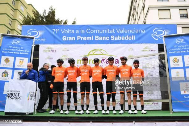 Start / Ruben Fernandez of Spain and Team Euskadi-Dba / Juan Jose Lobato of Spain and Team Euskadi-Dba / Mikel Bizkarra of Spain and Team Euskadi-Dba...