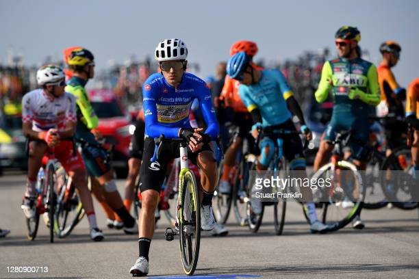 Start / Ruben Guerreiro of Portugal and Team EF Pro Cycling Blue Mountain Jersey / Base Aerea Rivolto / during the 103rd Giro d'Italia 2020, Stage 15...