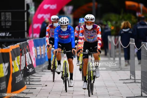 Start / Ruben Guerreiro of Portugal and Team EF Pro Cycling Blue Mountain Jersey / Lachlan Morton of Australia and Team EF Pro Cycling / Team EF Pro...