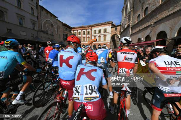 Start / Ruben Guerreiro of Portugal and Team Katusha Alpecin / Jose Goncalves of Portugal and Team Katusha Alpecin / Markel Irizar of Spain and Team...