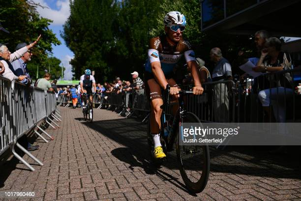 Start / Rudy Barbier of France and Team AG2R La Mondiale / during the 14th BinckBank Tour 2018, Stage 5 a 204,4km stage from Sint-Pieters-Leeuw to...