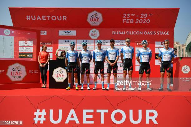 Start / Rudy Barbier of France and Team Israel Start-Up Nation / Matthias Brändle of Austria and Team Israel Start-Up Nation / Alexander Cataford of...