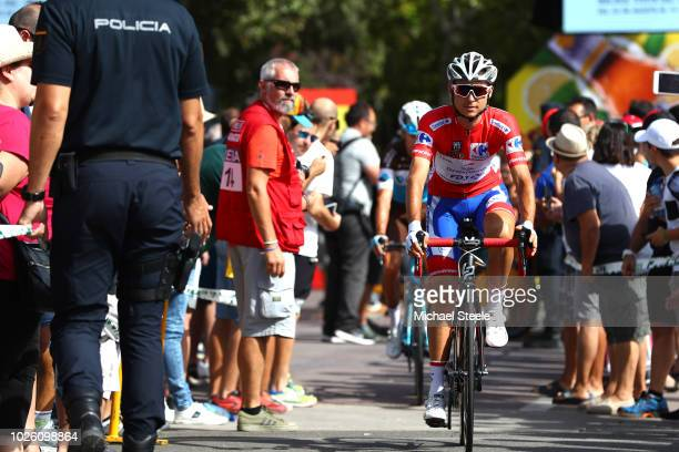 Start / Rudy Molard of France and Team Groupama FDJ Red Leader Jersey / Fans / Public / during the 73rd Tour of Spain 2018, Stage 9 a 200,8km stage...