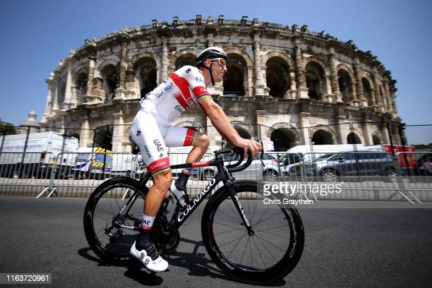 Start / Rui Costa of Portugal and UAE Team Emirates / Nîmes Arena Amphitheater / during the 106th Tour de France 2019, Stage 16 a 177km stage from...