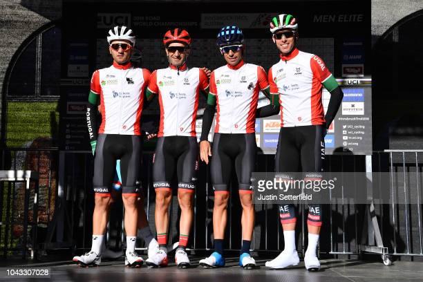 Start / Rui Costa of Portugal / Ruben Guerreiro of Portugal / Tiago Machado of Portugal / Nelson Oliveira of Portugal / during the Men Elite Road...