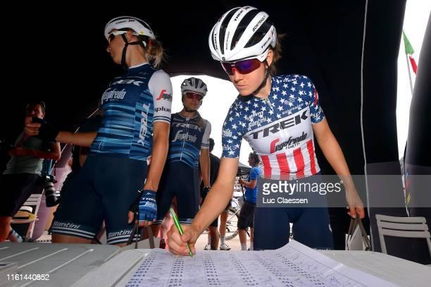 Start / Ruth Winder of The United States and Team Trek- Segafredo / Anna Plichta of Poland and Team Trek- Segafredo / Sing In / during the 30th Tour...