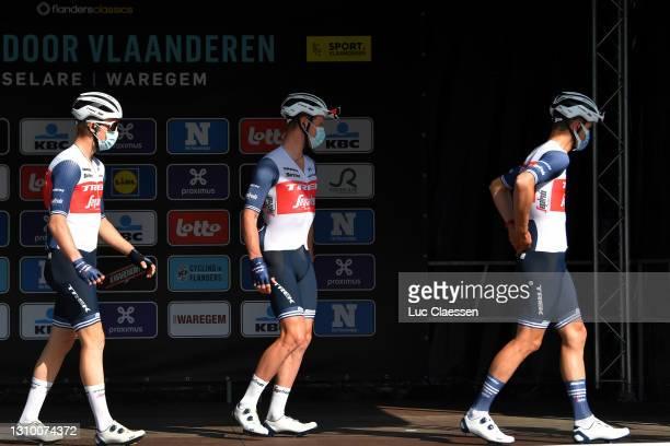 Start / Ryan Mullen of Ireland and Team Trek - Segafredo during the 75th Dwars Door Vlaanderen 2021, Men's Elite a 184,1km race from Roeselare to...