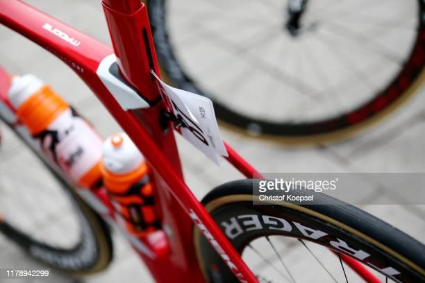 Start / Ryan Mullen of Ireland and Team Trek-Segafredo / Trek Bike / Detail view / during the 14th Sparkassen Münsterland Giro 2019 a 193,3km race...