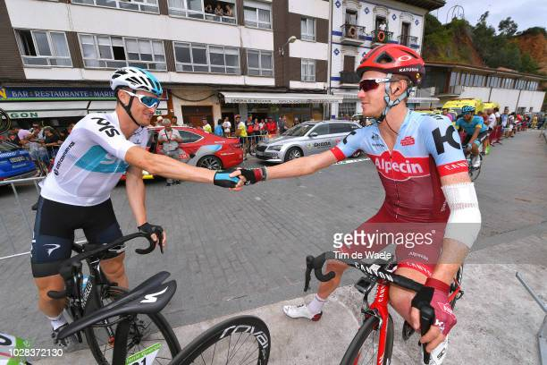 Start / Salvatore Puccio of Italy and Team Sky / Ian Boswell of The United States and Team Katusha Alpecin / during the 73rd Tour of Spain 2018,...
