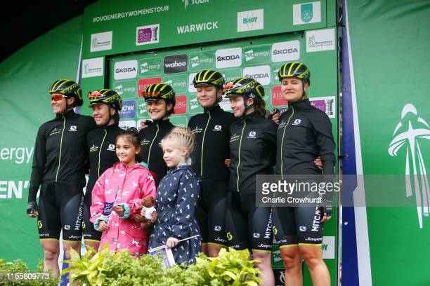 Start / Sarah Roy of Australia and Team Mitchelton SCOTT / Jessica Allen of Australia and Team Mitchelton SCOTT / Grace Brown of Australia and Team...