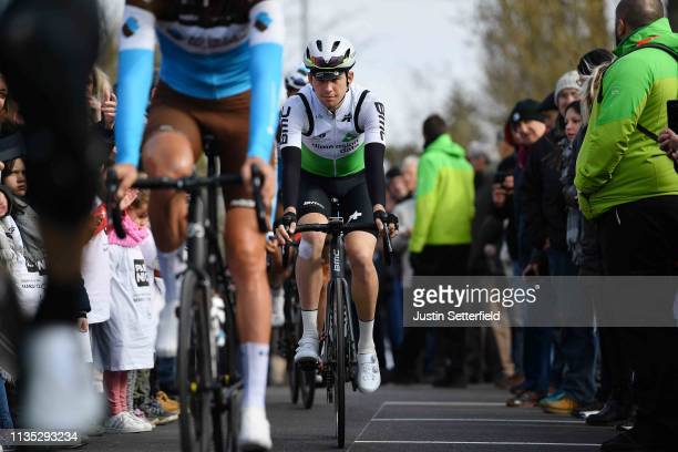 Start / Scott Davies of United Kingdom and Team Dimension Data / Fans / Public / during the 77th Paris Nice 2019 Stage 3 a 200km stage from Cepoy to...
