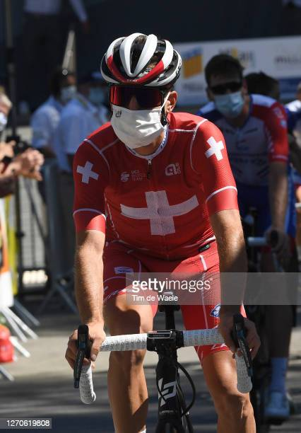 Start / Sebastien Reichenbach of Switzerland and Team Groupama - FDJ / Mask / Covid safety measures / during the 107th Tour de France 2020, Stage 7 a...