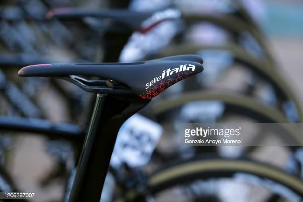Start / Selle Italia Saddle / Team Sport Vlaanderen - Baloise / Eddy Merckx 525 Bike / Detail view / during the 40th Vuelta a Murcia 2020, Stage 1 a...