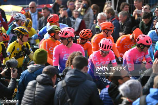 Start / Sep Vanmarcke of Belgium and Team EF Education First / Sebastian Langeveld of The Netherlands and Team EF Education First / Tom Scully of New...