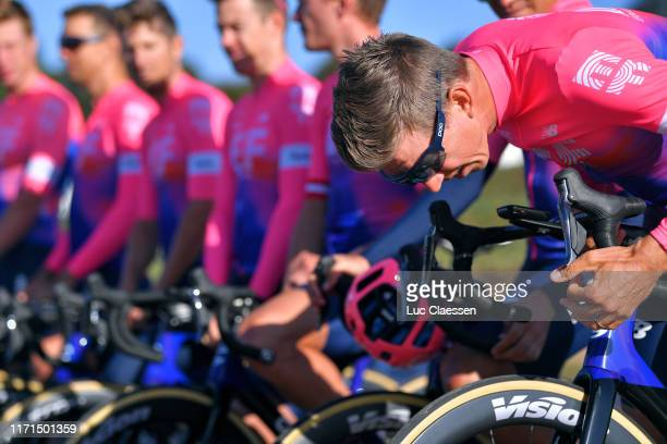 Start / Sep Vanmarcke of Belgium and Team EF Education First / Team Presentation / during the 83rd Bretagne Classic Ouest-France 2019 a 248,1km stage...