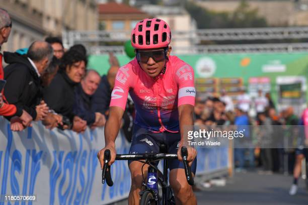Start / Sergio Andres Higuita of Colombia and Team EF Education First / Bergamo City / Piazza Cavalieri di Vittorio Veneto / during the 113th Il...