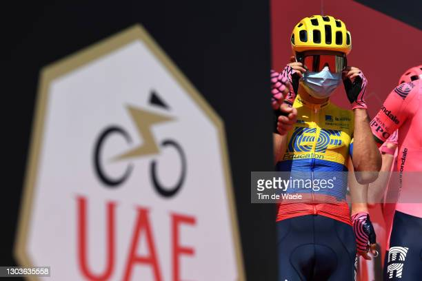 Start / Sergio Higuita Garcia of Colombia and Team EF Education-Nippo during the 3rd UAE Tour 2021, Stage 3 a 166km stage from Al Ain - Strata...